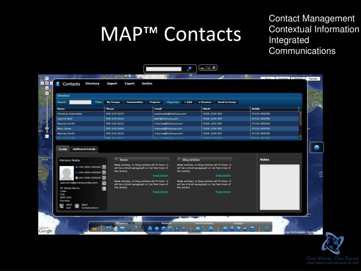 MAP™ Contacts