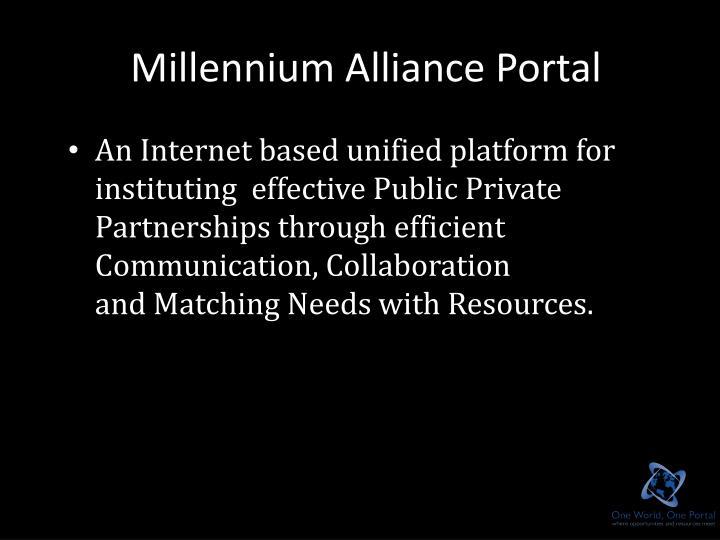 Millennium Alliance Portal