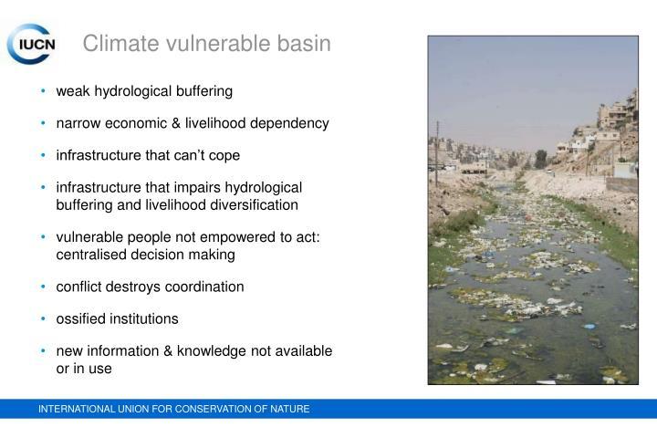 Climate vulnerable basin