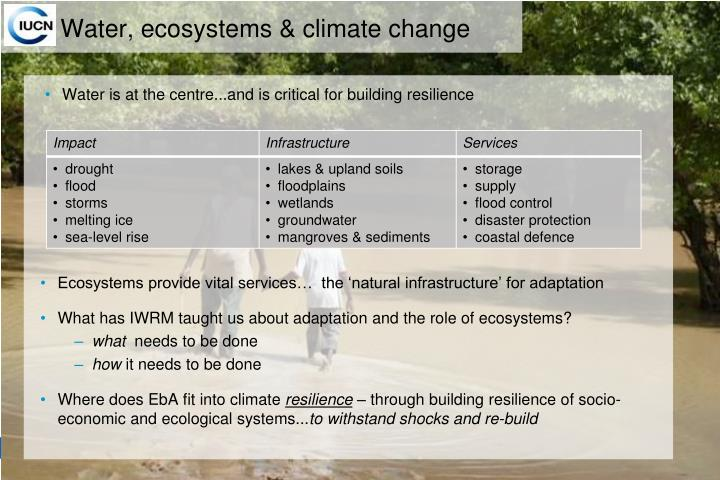 Water, ecosystems & climate change