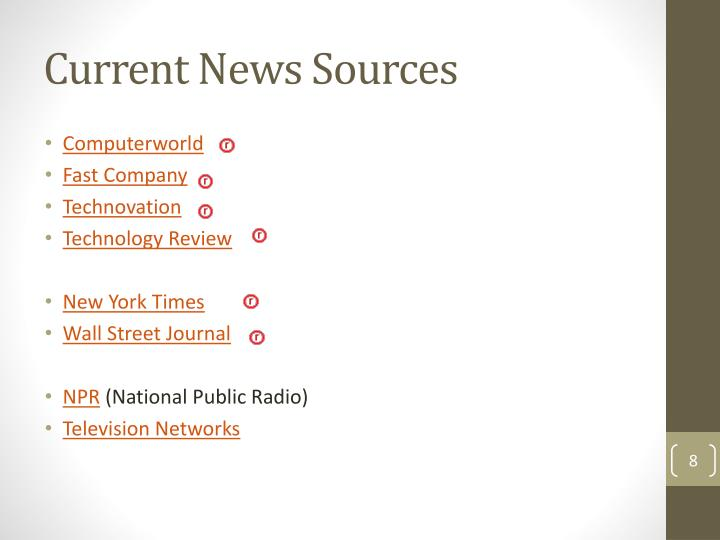 Current News Sources