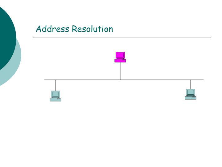 Address Resolution