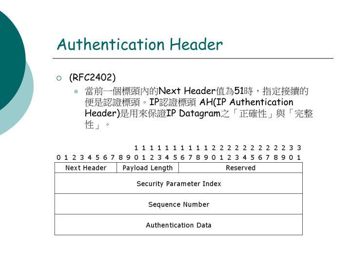 Authentication Header