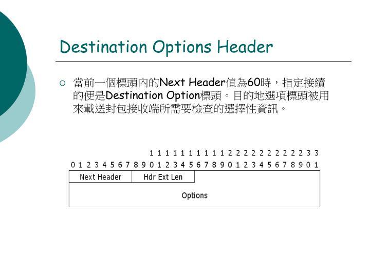 Destination Options Header