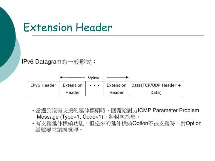Extension Header