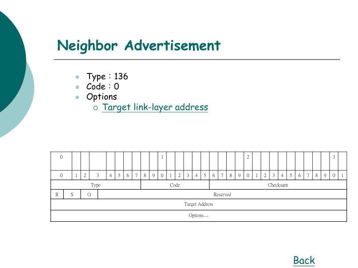 Neighbor Advertisement