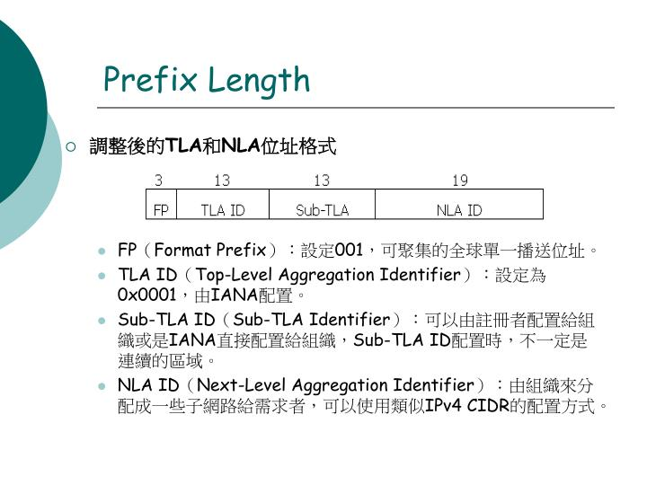 Prefix Length