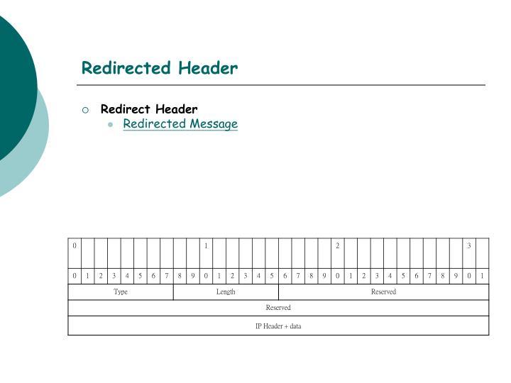 Redirected Header