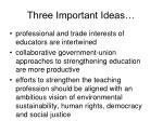 three important ideas