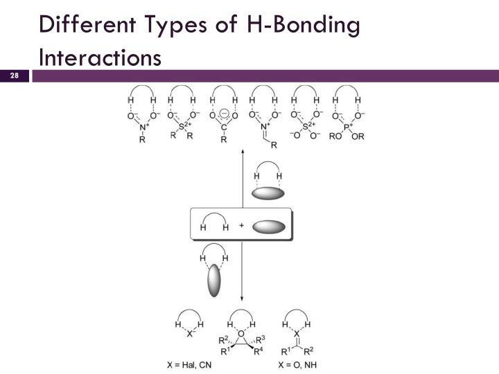 Different Types of H-Bonding Interactions