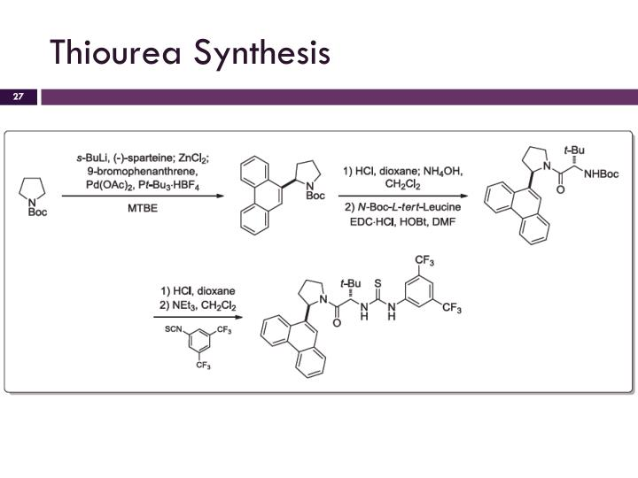 Thiourea Synthesis