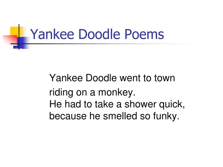 Yankee Doodle Poems