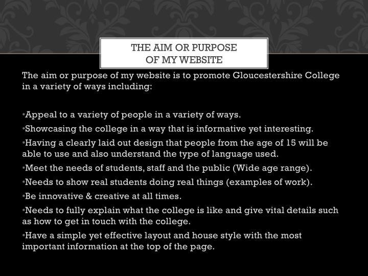 The AIM OR Purpose