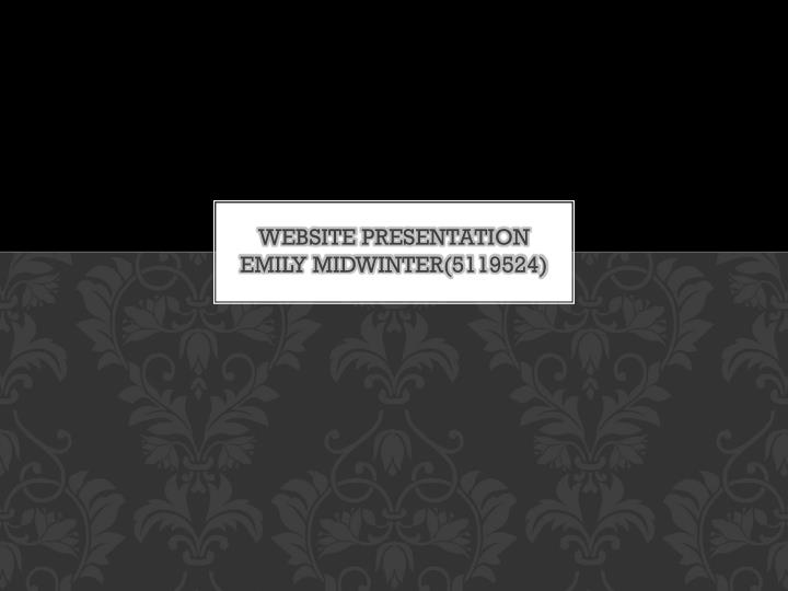 Website presentation emily midwinter 5119524