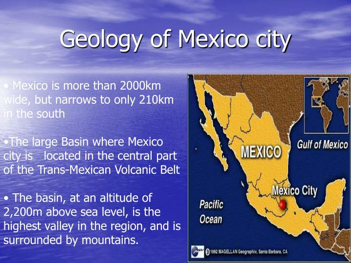 Geology of Mexico city