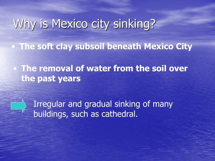 Why is Mexico city sinking?