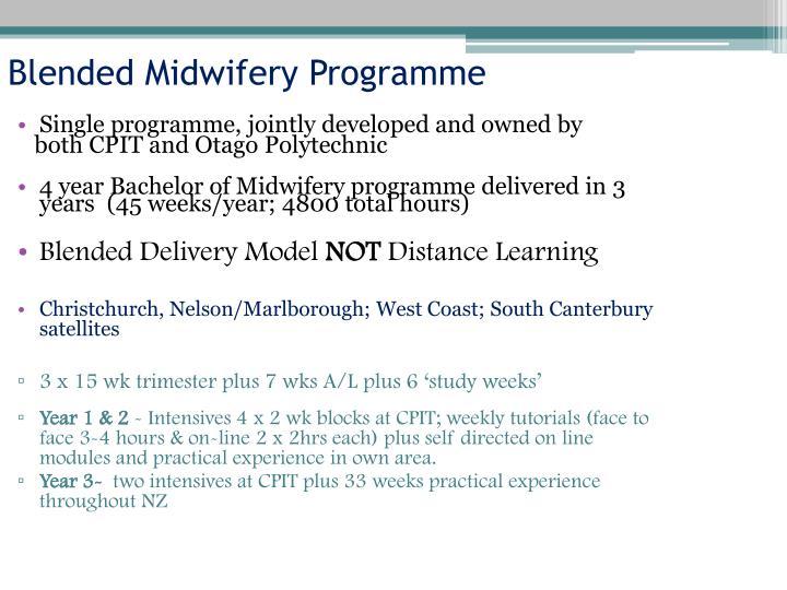 Blended Midwifery Programme