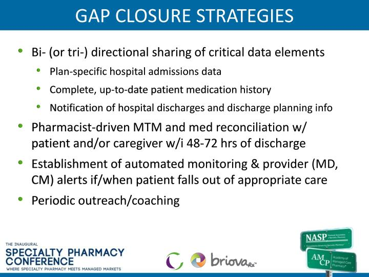 GAP CLOSURE STRATEGIES