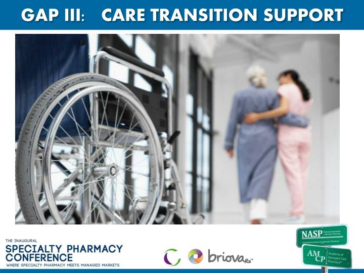 GAP III:   CARE TRANSITION SUPPORT