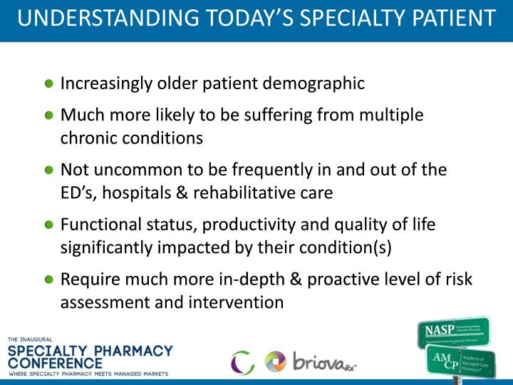 UNDERSTANDING TODAY'S SPECIALTY PATIENT