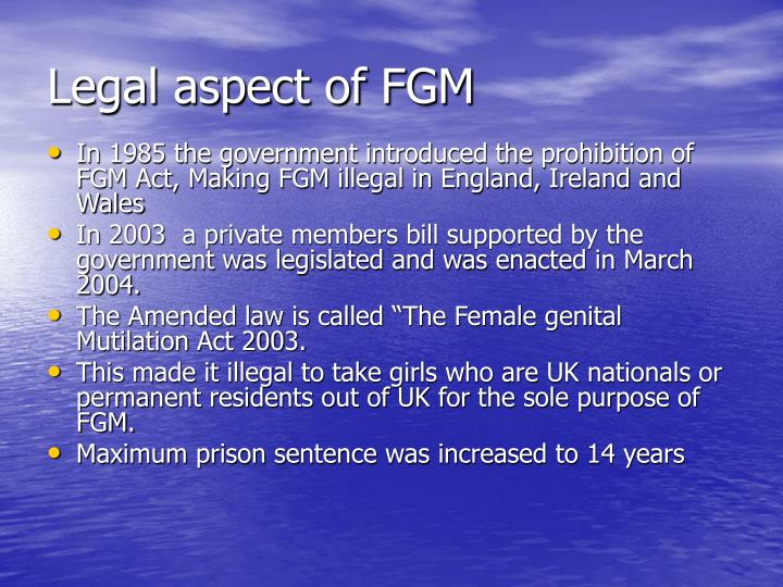 Legal aspect of FGM