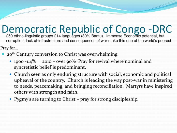 Democratic Republic of Congo -DRC
