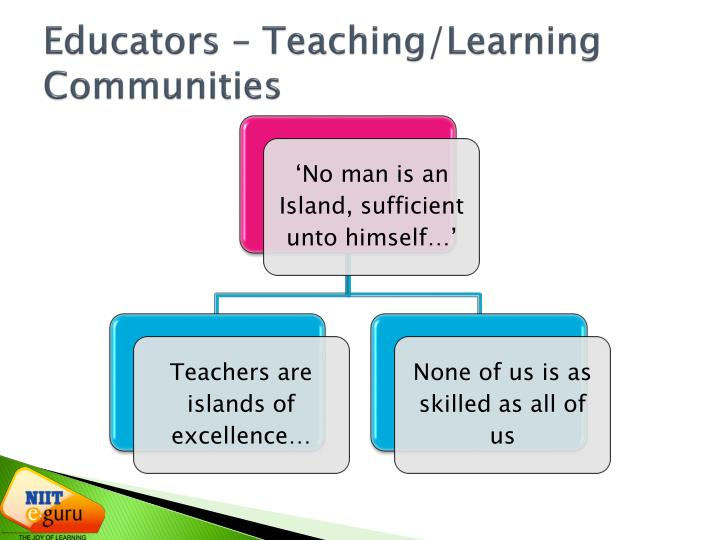 Educators – Teaching/Learning Communities