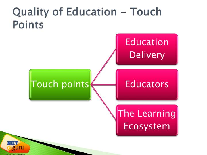Quality of Education - Touch Points