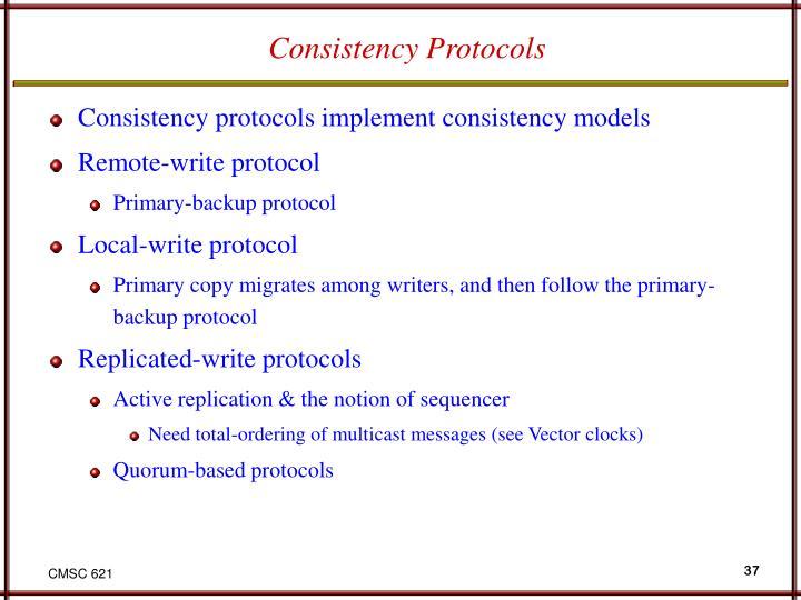 Consistency Protocols