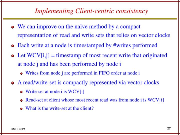 Implementing Client-centric consistency