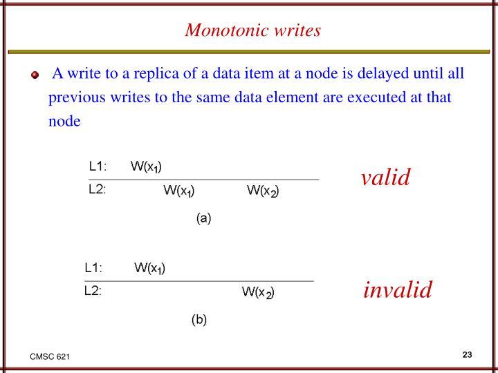 Monotonic writes