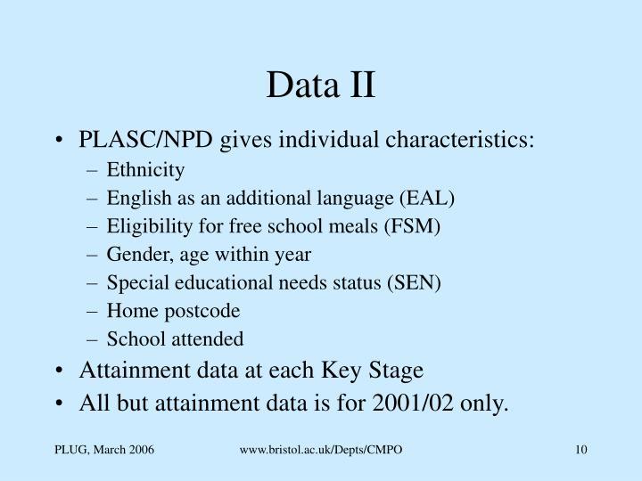 Data II