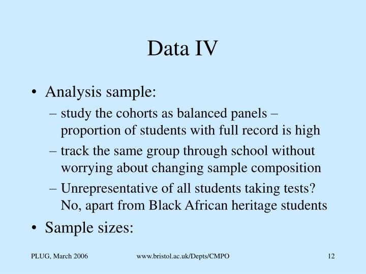 Data IV