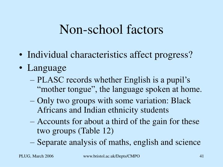 Non-school factors