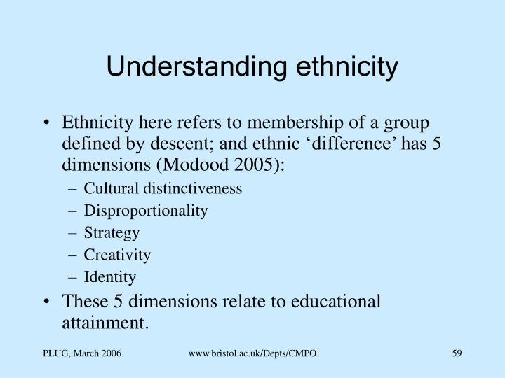 Understanding ethnicity