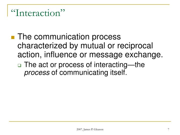"""Interaction"""