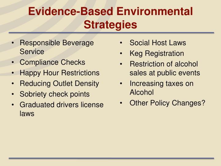 Evidence-Based Environmental Strategies