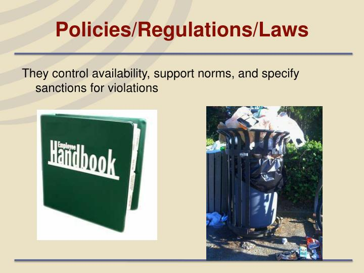 Policies/Regulations/Laws
