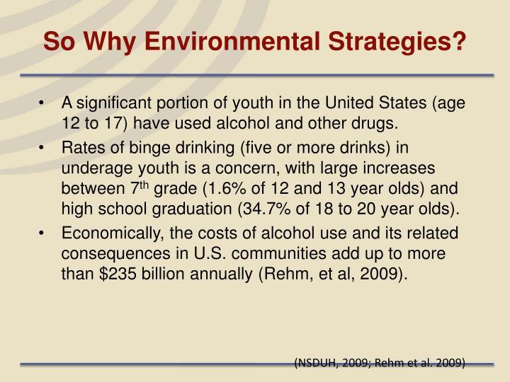 So Why Environmental Strategies?