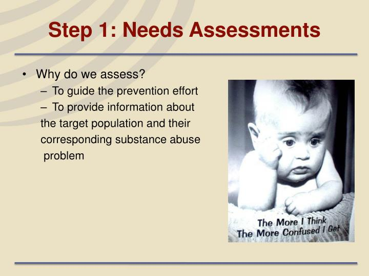 Step 1: Needs Assessments