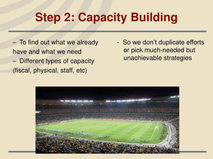 Step 2: Capacity Building