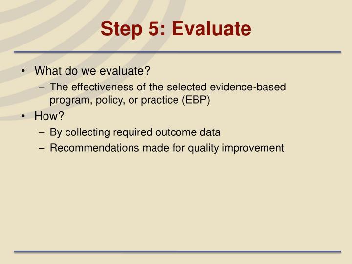 Step 5: Evaluate