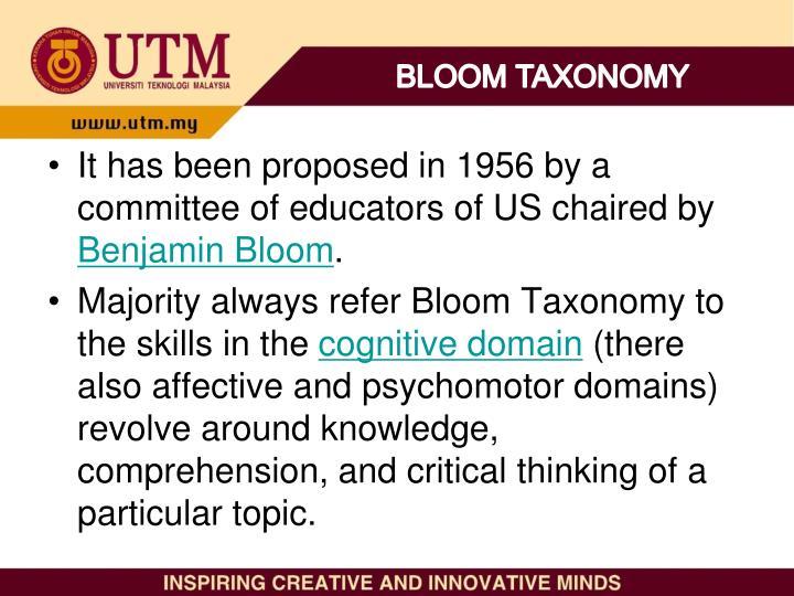 BLOOM TAXONOMY