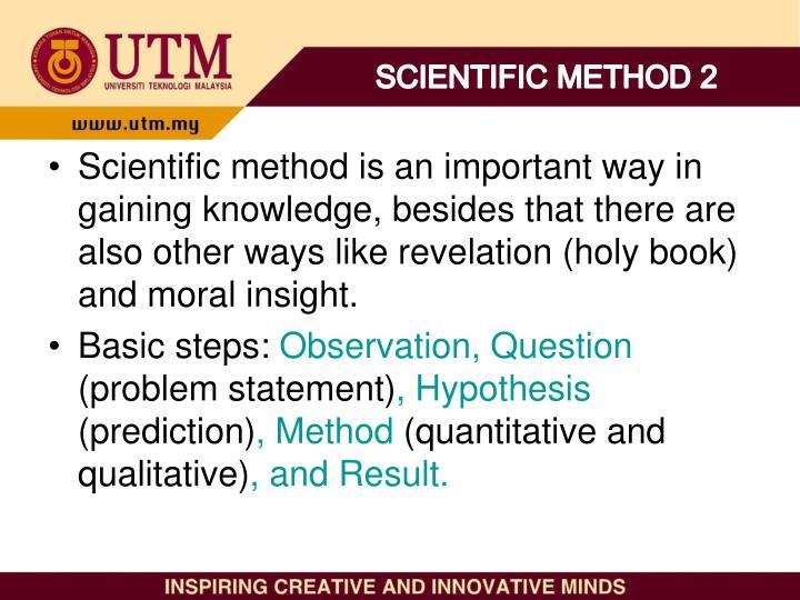 SCIENTIFIC METHOD 2