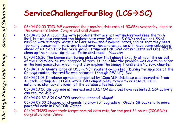 ServiceChallengeFourBlog (LCG