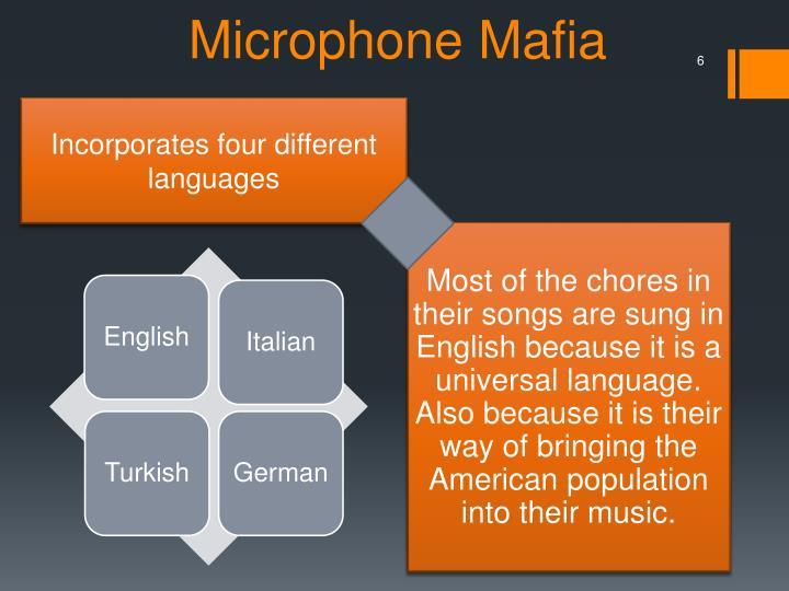 Incorporates four different languages