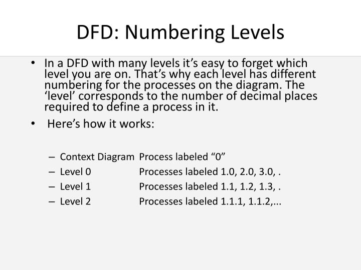 DFD: Numbering Levels
