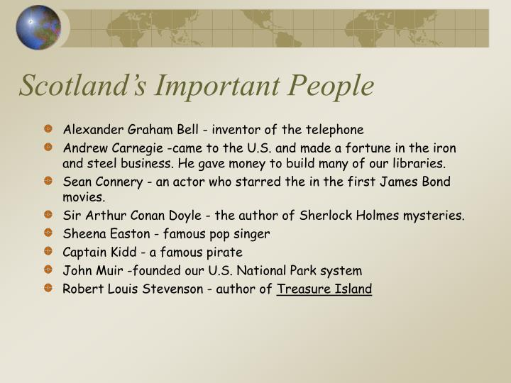 Scotland's Important People