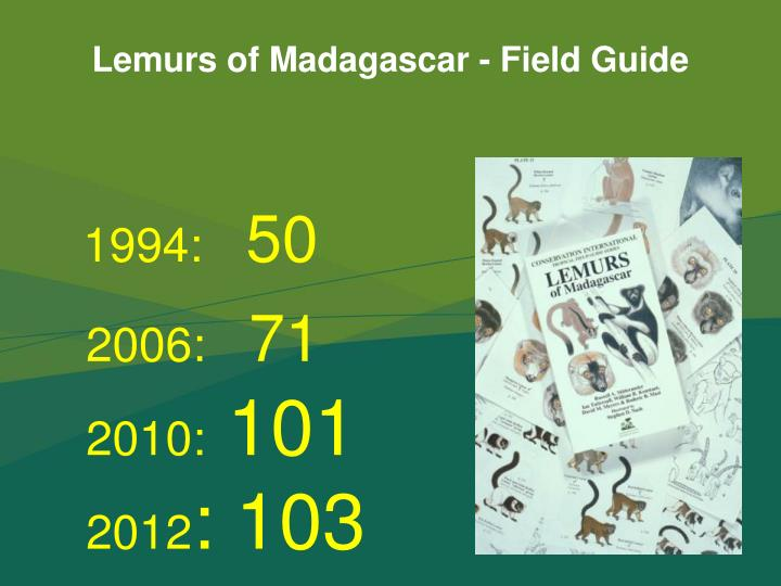 Lemurs of Madagascar - Field Guide