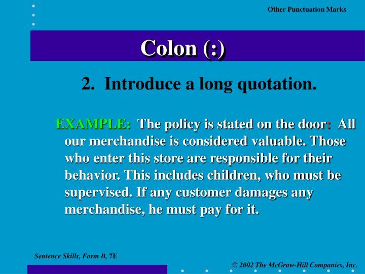 Colon (:)